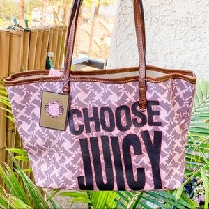RARE juicy couture neverfull tote bag pink yorkie